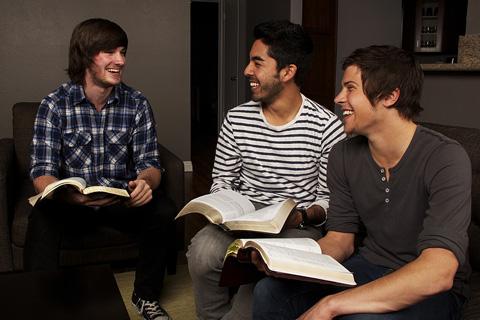men's Bible study group