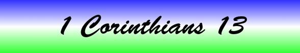 1 Corinthians Chapter 13