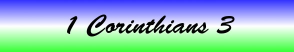 1 Corinthians Chapter 3