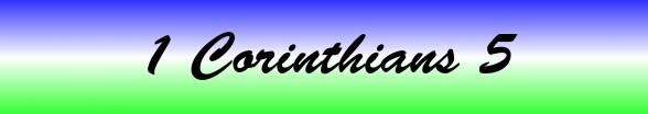 1 Corinthians Chapter 5
