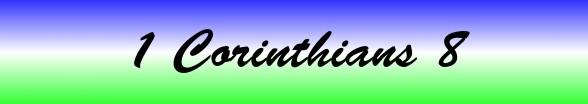 1 Corinthians Chapter 8