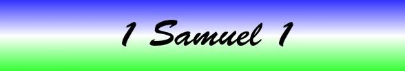 1 Samuel Chapter 1