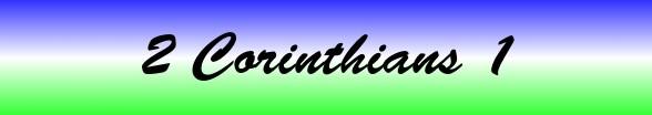 2 Corinthians Chapter 1