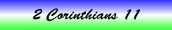 2 Corinthians Chapter 11