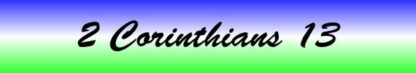 2 Corinthians Chapter 13