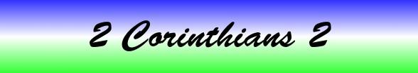 2 Corinthians Chapter 2