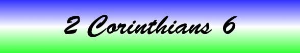2 Corinthians Chapter 6