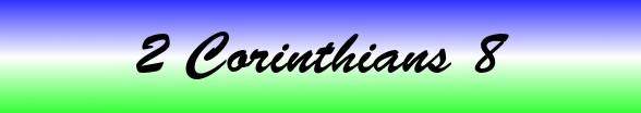 2 Corinthians Chapter 8