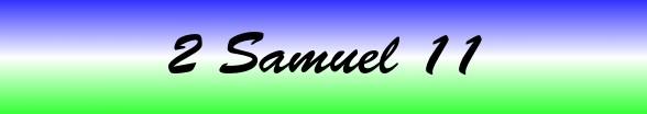 2 Samuel Chapter 11