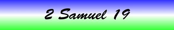2 Samuel Chapter 19