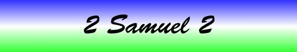 2 Samuel Chapter 2