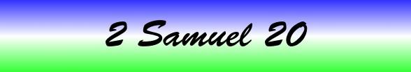 2 Samuel Chapter 20