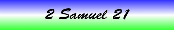2 Samuel Chapter 21