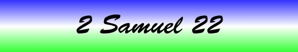 2 Samuel Chapter 22