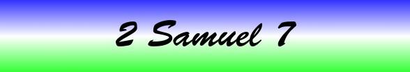 2 Samuel Chapter 7