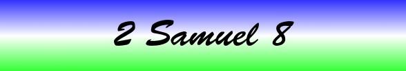 2 Samuel Chapter 8