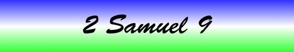 2 Samuel Chapter 9