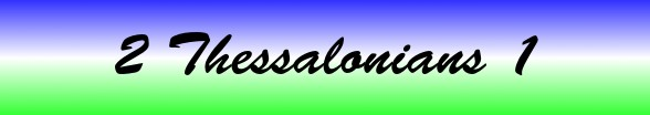 2 Thessalonians Chapter 1