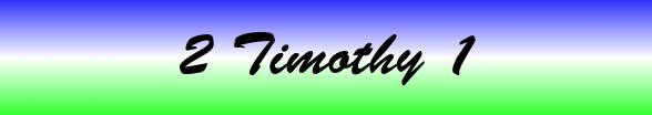 2 Timothy Chapter 1