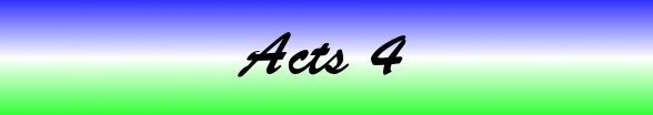 Acts Chapter 4