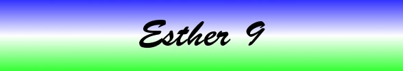 Esther Chapter 9