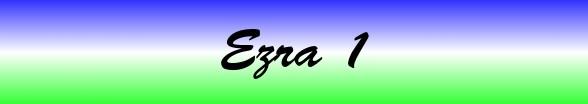 Ezra Chapter 1