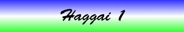 Haggai Chapter 1