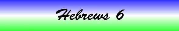 Hebrews Chapter 6