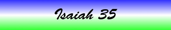 Isaiah Chapter 35