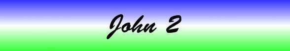 John Chapter 2