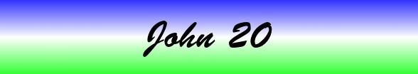 John Chapter 20