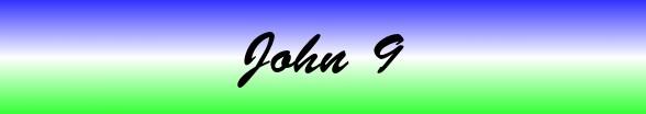 John Chapter 9