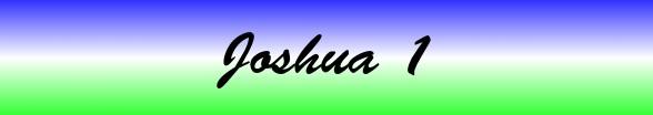 Joshua Chapter 1