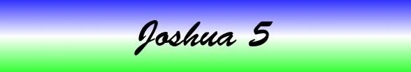 Joshua Chapter 5