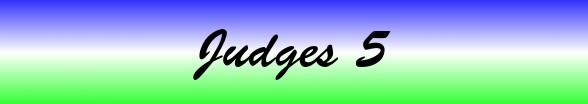 Judges Chapter 5