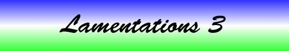 Lamentations Chapter 3