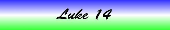 Luke Chapter 14