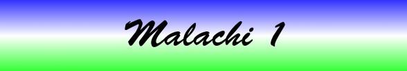 Malachi Chapter 1