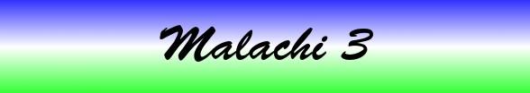 Malachi Chapter 3