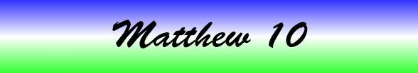 Matthew Chapter 10