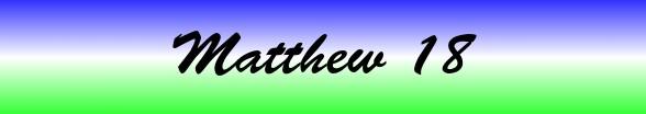 Matthew Chapter 18