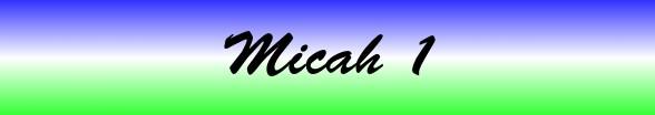 Micah Chapter 1