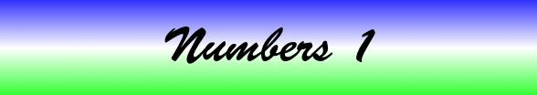 Numbers Chapter 1