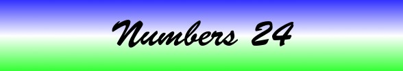 Numbers Chapter 24