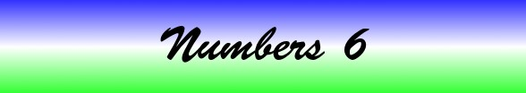 Numbers Chapter 6