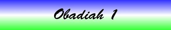 Obadiah Chapter 1