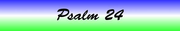 Psalms Chapter 24