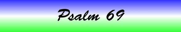 Psalms Chapter 69